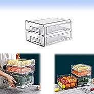 PA Fridge Drawer Organizer, Refrigerator Organizer Bins, Pull Out with Handle, Fridge Shelf Holder Storage Box