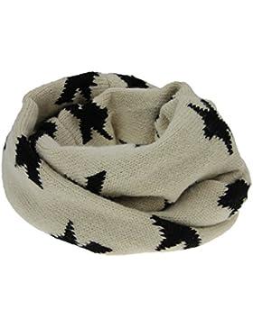 Snood bebé braga de cuello bufanda estrella cache-cou invierno pasamontañas tricoté multifuncional Corel polar...