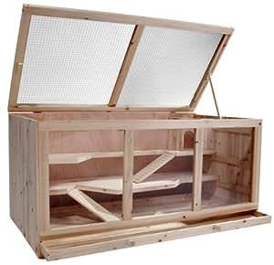 Leopet - Cage pour rongeurs (souris, hamster, cochon d'Inde) - à 3 étages - 115 x 60 x 58 cm