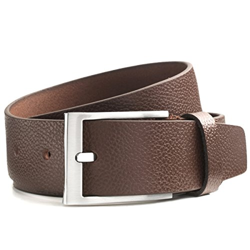 Lindenmann Mens Leather Belt/Mens Belt, full grain leather, brown
