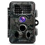 APEMAN Cámara de Caza 12MP y 1080P HD Trail Cámara con Lente de 130° Gran Angular y Sensor PIR Gran Angular de 120° 42 LEDs de 940nm IR Avanzados Visión Nocturna con hasta 20M Cámara de Fauna con Protección de Salpicaduras IP66
