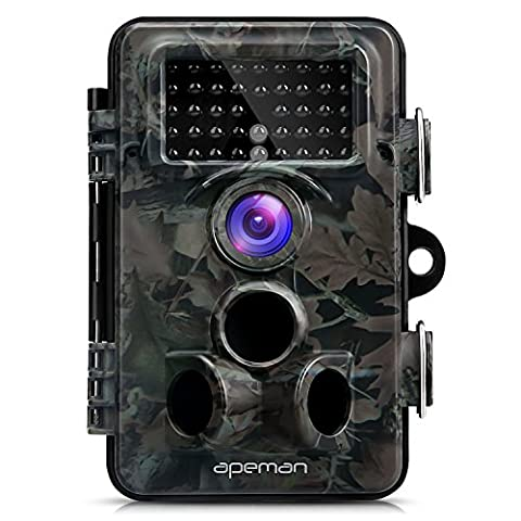 APEMAN Trail Camera 12MP 1080P HD Wildlife Camera with 130° Wide Angle Lens 120° Detection 42 Pcs 940nm Updated IR LEDs Night Version up to 20M/65FT Hunting Camera with IP66 Spray Water Protected