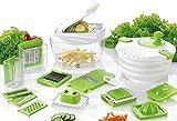 Vegetable's Chef - Centrifuga per Insalata, Verdure Mandoline - Cipolle, Verdure, Frutta e Formaggio Chopper - dice, slice and Chop per Insalate, Zuppe, Ragout and more - pelapatate e ricetta eBook