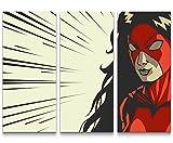 Eau Zone Wandbild auf Leinwand 130x90cmcm Superheldin - Illustration