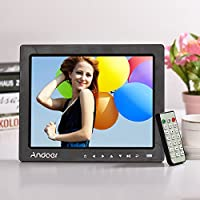 """Honorall 10"""" HD Digital Photo Frame Desktop Album Display Image 1080P MP4 Video MP3 Audio TXT eBook Clock Calendar Support Auto Play with Infrared Remote Control/ 7 Touch Key / 14 Language/Stand"""