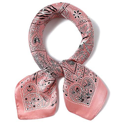 Neck Vintage Square Kleiner Schal Satin Seide Krawatte Headwear Halstuch Soft Neck Ladies (12 Color) (Farbe : 3, Größe : 53 * 53cm) ()