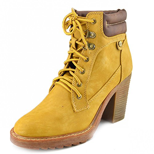 Damen lace up casual ankle boot Kampf Stiefel Tan