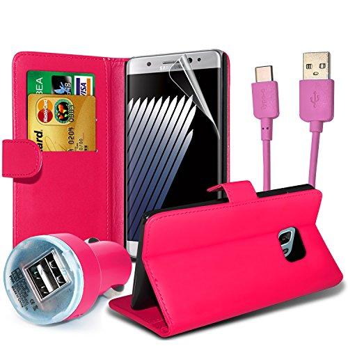 FONETIC Lösungen ® Google Pixel XL stoßfest Flip Carbon Gel Fällen Bezüge mit Premium Qualität Crystal Clear LCD Displayschutzfolie Guard 4-in-1 Value pack (Pink)