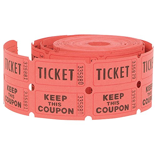 e Tickets, 500ct (Farben Mai Vary) (Rollen Tickets)