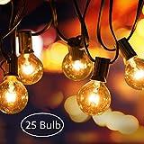 AODOOR Lichterkette Außen, Lichterkette Glühbirnen G40 Globe Garten Lichterkette Warmweiß, Innen-und Außen Deko Glühbirne für Party,...