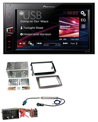 Pioneer MVH-AV180 AUX MP3 USB 2DIN Autoradio für Alfa Romeo Mito 955 ab 14 Quadlock silber