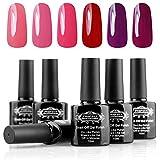 Perfect Summer Gel Nail Polish 6 Colors Soak off gel polish manicure kit set 10ml #04