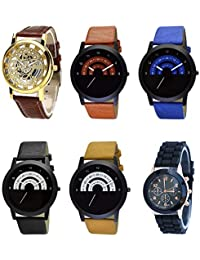 NEUTRON New Collection Open Black Blue And Brown Color 6 Watch Combo (B45-B46-B47-B48-B49-B65) For Boys And Men