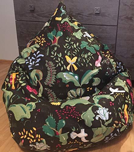 Sitzsack Waldtiere Leinen Bezug Kinderzimmer Dekor Eko freundlich Möbel für Kinder Bodenkissen...