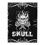 ATOMUS Skulls & Bones Tattoo Design Buch 76 Seiten A4 Körperkunst Tattoo Schablone Manuskript Buch Handbuch (76 Seiten)