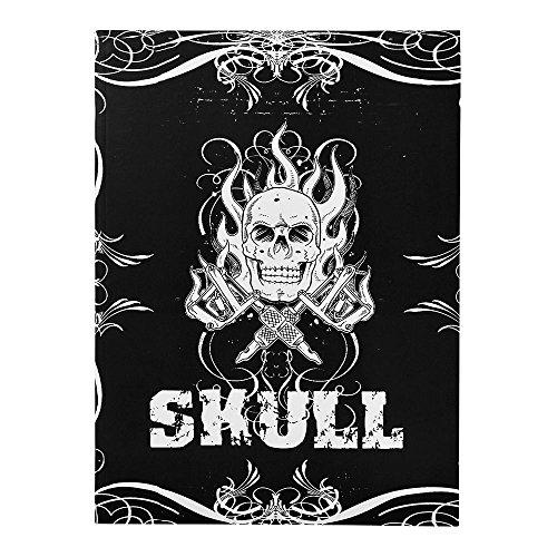 ATOMUS Skulls & Bones Tattoo Design Buch 76 Seiten A4 K?rperkunst Tattoo Schablone Manuskript Buch Handbuch (76 Seiten) ¡