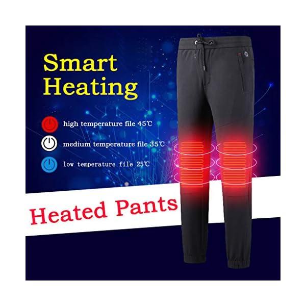 Shenye - Pantalones térmicos para niños de 3 a 9 años, con calefacción por USB, para niños Grandes y niñas, para… 2