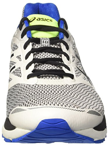 Asics Gel-Cumulus 18, Chaussures de Tennis Homme Blanc Cassé (White/black/electric Blue)