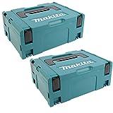 2 Stück Makita Koffer MAKPAC Set Gr.2 - OHNE Boden- und Deckenpolster