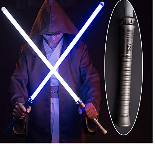 ser Sword 7 Fraben , Ungrade 2-in-1 FX Dual Saber with Sound for Warriors and Galaxy War Fighters for Cosplay , 2 Stück ()