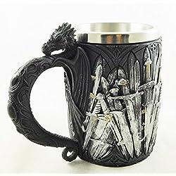 Juego de Tronos espadas diseño espada medieval dragón Legends Copa Potable cáliz | 1940