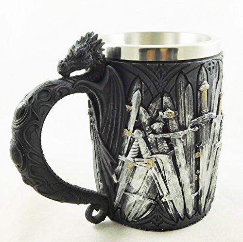 Preisvergleich Produktbild Game of Thrones Schwerter Dragon Bierkrug Mittelalter Schwert Legends Trinkbecher Goblet / 1940