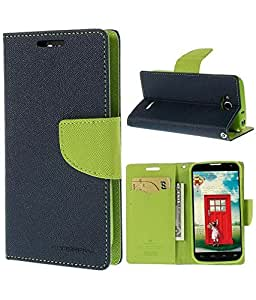 Mercury Goospery Fancy Diary Wallet Flip Case Leather Cover for Gionee Elife E5(Green)