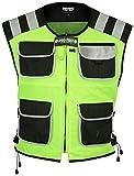 ProFirst, gilet da moto impermeabile, per uomo, ad alta visibilità Yellow Small