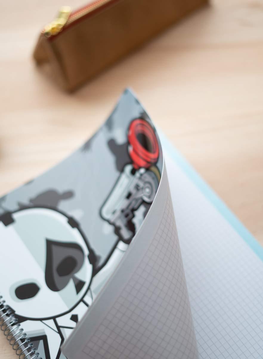 Cuaderno Tapa Polipropileno A4 5X5 Microperforado Fortnite 2