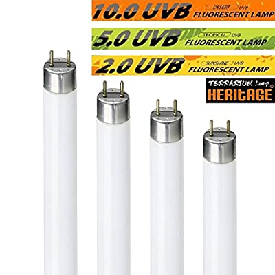 Nature-glow Rainforest 5.0 Uvb Reptile Flourescent Glo Tube Tropical Lamp Uv Bulb Vivarium Amphibians Repti Pet Light from Nature-Glow by Heritage Pet Products