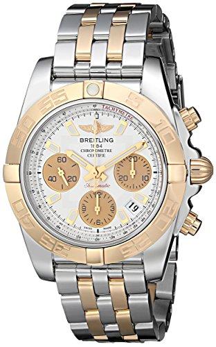 Breitling Homme 41mm Bracelet acier Bicolore boîtier en acier automatique Cadran Beige montre Cb014012-g713tt