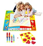 BENGO Aqua Malmatte Wasser Color 88x58CM,Doodle Matte für Kinder Doodle Spiel 4 Doodle Zusatzstift mit Stempelset
