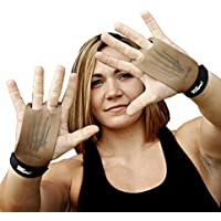 Bear KompleX 2 hole Gymnastics grips are great for WODs, pullups, weight lifting, chin ups, cross training, exercise, kettlebells, and more. Protect your palms from rips and tears! Small 2hole TAN