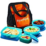 Signoraware Carry Plastic Lunch Box with Bag, T Blue