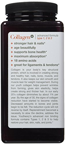 Youtheorytm Collagen Advanced Formula Collagen Type 1, 2 & 3 With 18 Amino Acids 390 Tablets