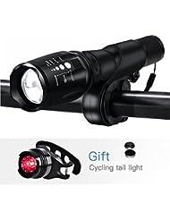 LED Fahrradbeleuchtung,YUMUN® 1000 Lumen 3 Licht-Modi Wasserdicht LED Fahrradlampe Fahrradlicht Sport Frontlicht und Rücklicht für Berg-Radfahren,Radfahren Camping Outdoor Sport Jagen wandern