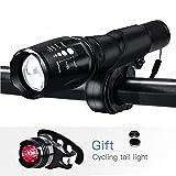 LED Fahrradbeleuchtung,YUMUN® 1000 Lumen 5 Licht-Modi Wasserdicht LED Fahrradlampe Fahrradlicht...