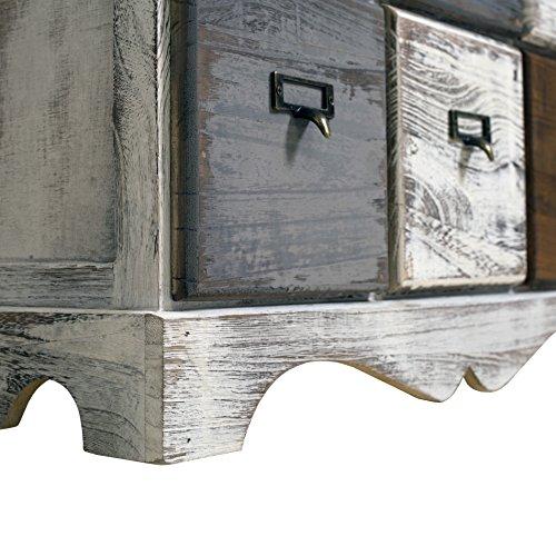 Rebecca Mobili Cassettiera 9 cassetti, Mobile Bianco, Legno, Shabby Chic, Camera da Letto Sala - Misure: 62 x 60 x 22 cm (HxLxP) - Art. RE4077 - 7