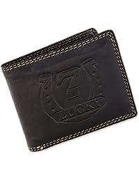 Herren Geldbörse Portmonee Portemonnaie Klappbörse Geldbeutel echtes Leder  Blau