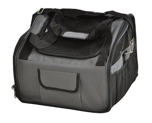nanook Auto Transporttasche für Tiere / Transportbox – 43 cm – anthrazit – für Hunde, Katzen und Nager – mit Gurtbefestigung - 2
