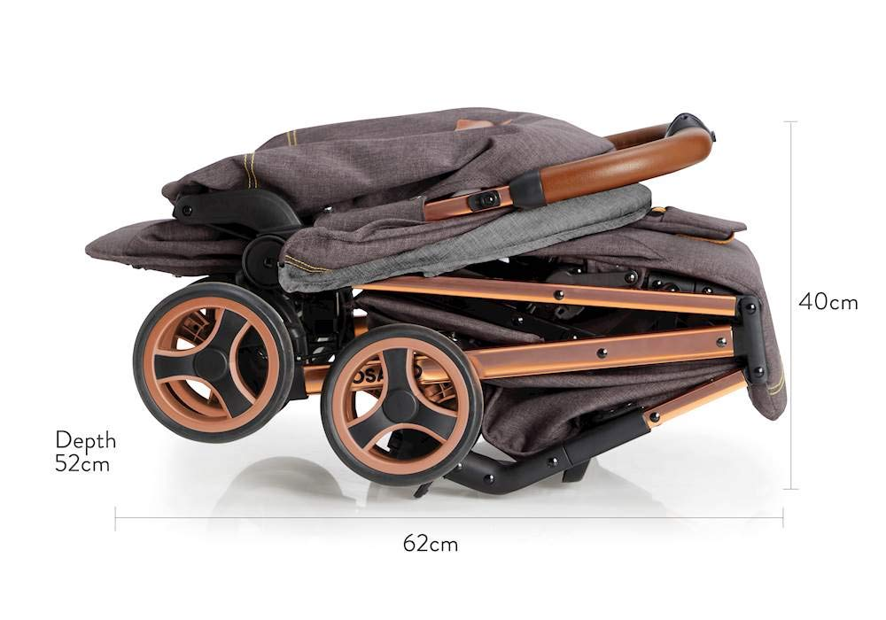Cosatto Woosh XL Pushchair, Suitable from Birth to 25 kg, Mister Fox Cosatto Compact from-birth pushchair. carries up to 25kg child, so you can use it for longer. Hands full? it's lightweight with one-hand fold into compact bundle. easy to store. It can even carry dock 0+ car seat (sold sep) just pop onto the adaptors (sold sep). 5