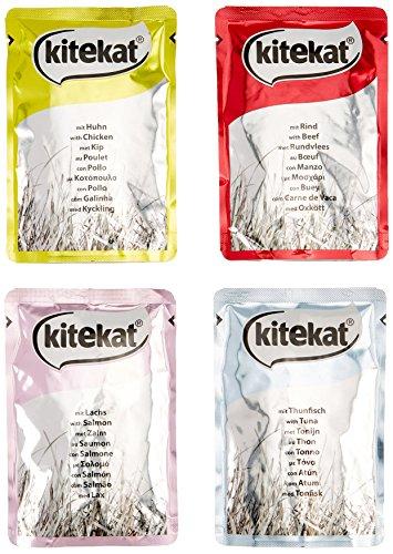 Kitekat Katzenfutter Meer und Land in Gelee, 24 Beutel, 1er Pack (1 x 24 x 100 g)