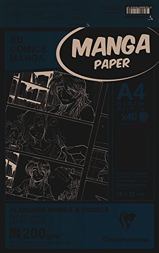 Clairefontaine 94047C Manga Etui BD/Comic (DIN A4, 21 x 29,7 cm, 40 Blatt, 200 g, geeignet für...