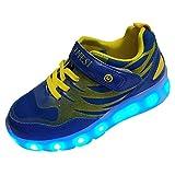 DAYATA LED Schuhe für Kinder Junge Mädchen Helle Turnschuhe Sneaker Mode (29 EU, blau)