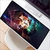 LIXB Animal Wolf Design Game Grande Padiglione Mouse Pad Computer Gaming Mouse Pad Gamer Tappetino Tappetino per Il Mouse Mousepad, 80x30cm