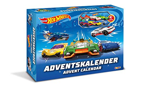 Craze 13908 - Hot Wheels Adventskalender, mit Spielzeug, Autos, Sticker