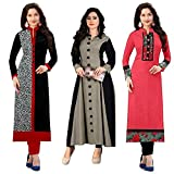 #10: Pramukh Fashion New Semistichead pack of 3 kurtis combo