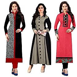 Pramukh Fashion New Design style and pattern could be on the peak of your beauty as soon as you attire this Multi Color Cotton Fabric Kurti for womens and girls. The ethnic work at the clothing garment adds a sign of attractiveness statement with you...