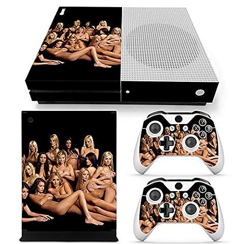 Morbuy Xbox ONE S Design Folie Skin Vinyl Aufkleber Sticker für Microsoft Xbox ONE S Konsole + 2 Controller Skins Set (Mädchen)