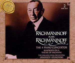 Rachmaninoff plays rachmaninoff the 4 piano concertos audio cd